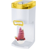 4in1 Gino Gelati GG-50W-A Yellow Softeismaschine Eismaschine Frozen Yogurt-Milchshake Maschine Flaschenkühler -