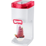 4in1 Gino Gelati GG-50W-A Red Softeismaschine Eismaschine Frozen Yogurt-Milchshake Maschine Flaschenkühler -