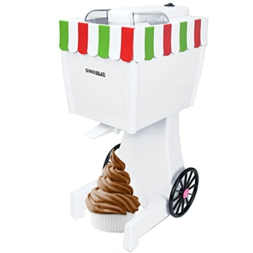 4in1 Gino Gelati IC-60W Retro Softeismaschine Eismaschine Frozen Yogurt-Milchshake Maschine Flaschenkühler -